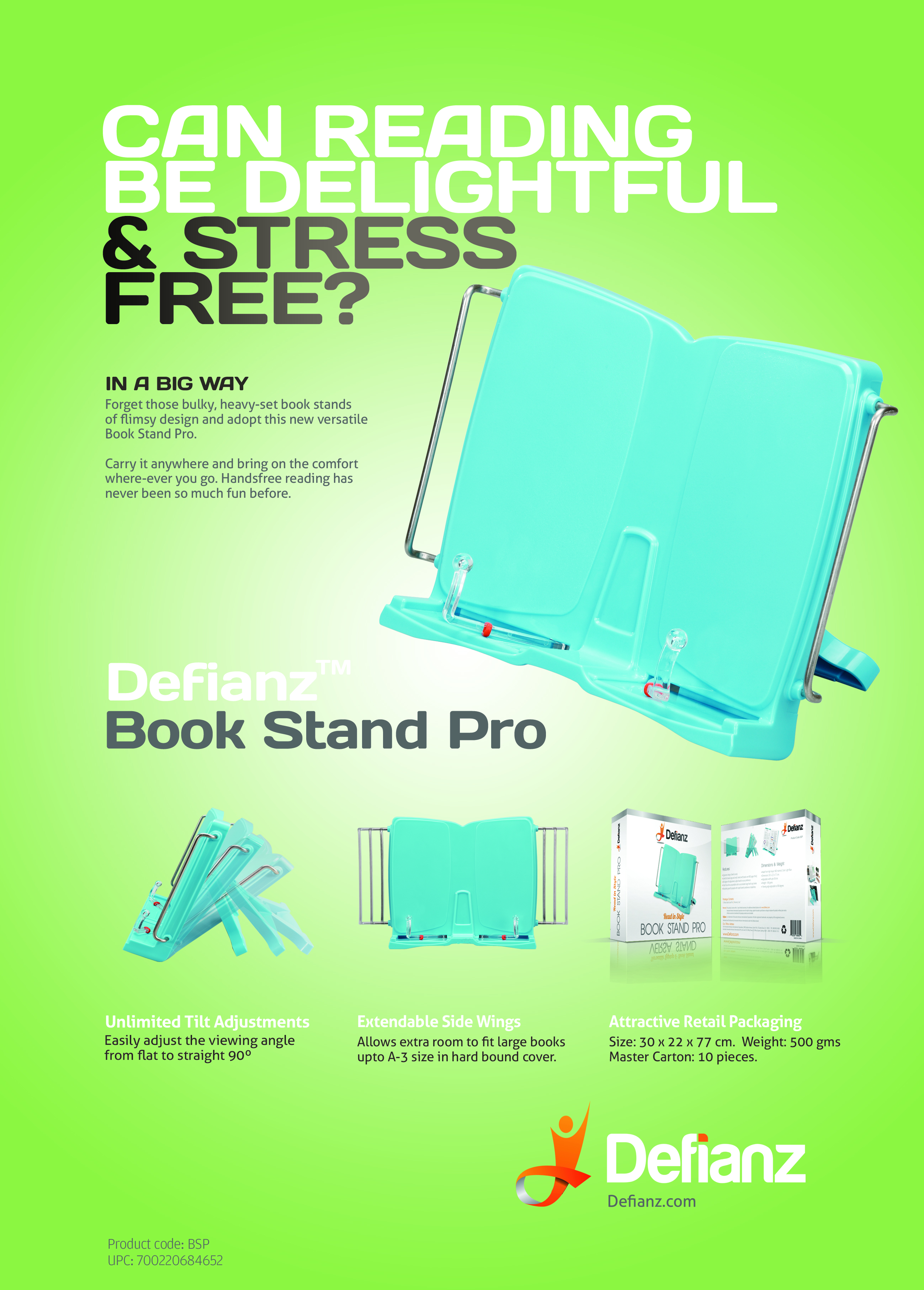 defianz book stand pro make reading delightful and fun with this